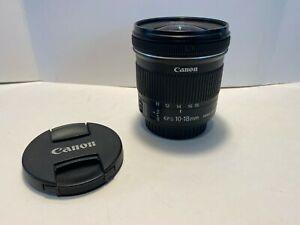**MINT** Canon Lens EF S 10 18mm f 4.5 5.6 IS STM