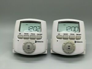 Intermatic DT620CL Digital Timer Daylight Savings Auto Adjust 15A 1 3hp Grounded