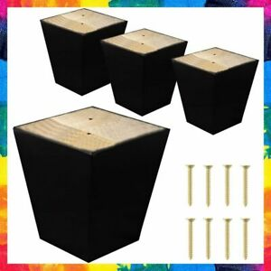SOFA LEGS Square for Cabinet Couch Ottoman Coffee Table Bench Chair COMFORTSTYLE $41.12
