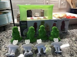Tovolo zombie Ice pop mold set of 4 homemade Popsicles Halloween Zombie Party