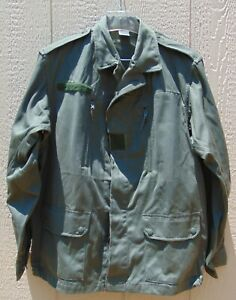 French Military F2 O.D. field jacket 112M L NOS w faint stains free shipping $29.99