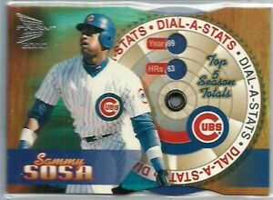 2000 Prism Dial A Stats Sammy Sosa 4 rare Chicago Cubs insert