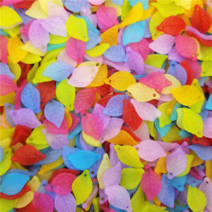 100PCS Candy Color Acrylic DIY Jewelry Making Frosting Leaf Fashion Findings Hot C $0.99