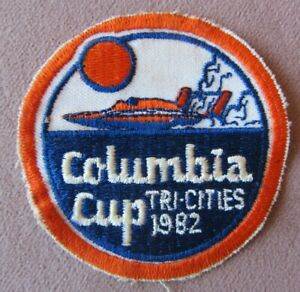 1982 Columbia Cup Tri Cities WA Hydroplane Racing Jacket Embroidered PATCH 3� $15.00