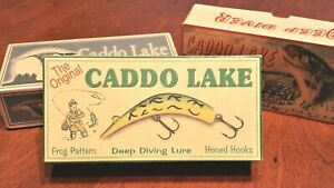 Caddo Lake Texas fishing lure boxes make excellent lake house cabin decorations