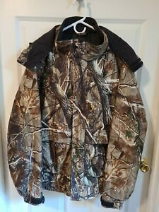 Field And Stream Men#x27;s Hydro Proof Ultra Realtree Camo Jacket Hunting Size XL