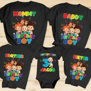 Cocomelon Custom Birthday T shirt for Kids Cocomelon Theme for birthday party