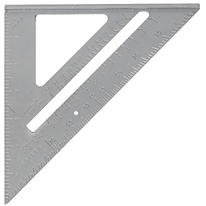 Carkio 45 Degree Triangle Ruler Aluminum Alloy Angle Ruler Inch Compatible with $16.98