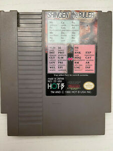 Shingen the Ruler Nintendo NES Game Cartridge Tested Working Authentic $13.00