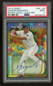 Xander Bogaerts 2014 Topps Finest Auto Rookie Gold Refractor #d 50 PSA 9 Red Sox $1799.99
