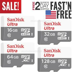 SanDisk Micro SD Card 16GB 32GB 64GB 128GB TF Class 10 for Smartphones Tablets $7.50