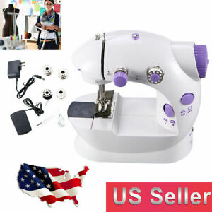 Portable Electric Sewing Machines Household Sewing Desktop Tailor Foot Pedal $16.00