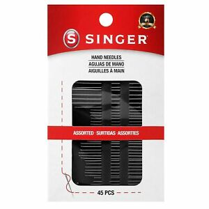 SINGER 01125 Assorted Hand Needles Betweens Chenille Darners Embroidery... $5.09