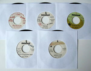 Billy Walker Nice Lot of 5 Country 45s All 60s Promos Cleaned And Tested $5.95