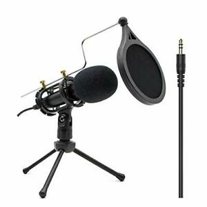Condenser Recording Microphone 3.5mm Plug and Play PC Microphone Broadcast for $36.15