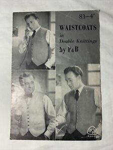 Vintage P amp; B Wools Waistcoats in Double Knitting P amp; B Wools #83 $12.99
