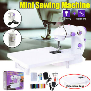 Mini Sewing Machine w Extension Table Adjustable Speed Crafting Mending Tailor $24.00