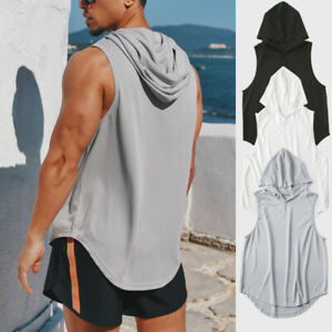 Mens Plain Gym Muscle Tank Top Loose Tee Summer Running T Shirts Vest Fitness $11.55