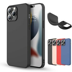 For iPhone 13 Pro MaxProMini Case Liquid Silicone Shockproof Soft Slim Cover