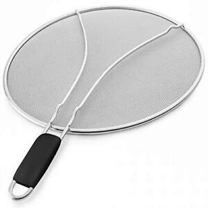 Bellemain Splatter Screen with Soft Grip Handle Stainless Steel Fine Mesh