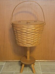 Longaberger Sewing Basket with stand works $150.00