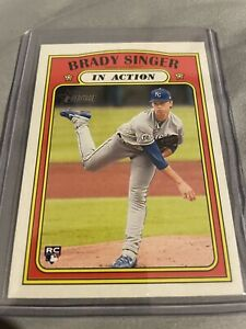 Brady Singer In Action Rookie Card 2021 Topps Heritage $2.50