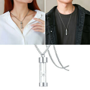 Ashes Pendant TStainless Steel Hourglass Necklace Silver for Ashes Keepsake $9.12