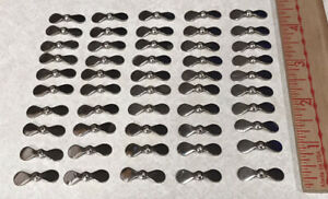 """50pcs Stainless Steel SS Propeller Prop Blades 7 8"""" DIY Fishing Lure Making NEW"""