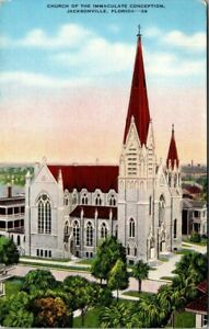 Vintage Postcard Florida Jacksonville Church of the Immaculate Conception