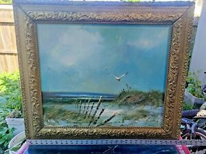 H Gailey Oil Painting Seascape Signed and Framed $149.00