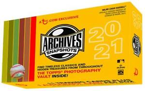 2021 Topps Archives Snapshots Base Cards 1 50 *YOU PICK* $2.95