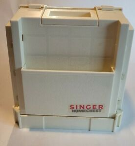Singer Homechest Sewing Organizer Fold Out Storage White $8.00