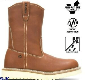 WOLVERINE 10 Wellington Mens Welt Construction Work Pull on Boots wv $119.99