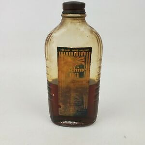 Antique Machine Oil Bottle 6 Inches Tall Lubricant Bottle Half Full $34.95