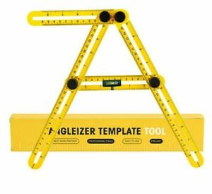Angle Ruler Measuring Protractor Template Tool Four fold Metric Scale Gauging $10.99