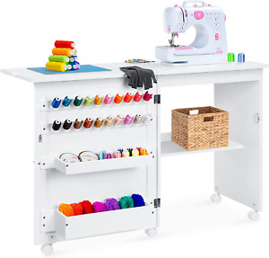Best Choice Products Sewing Table Folding Multipurpose Craft Station amp; Side Desk $157.95