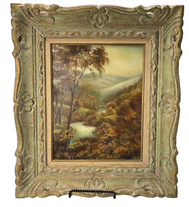 Antique oil on board landscape painting 15.5 x 12.5 $299.99