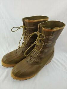 Vintage Mens Insulated Anti Freeze Converse Green Rubber Hunting Boots READ