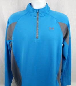 Under Armour Cold Gear Athletic Shirt Size Large Blue 1 2 Zip Long Sleeve $24.95