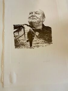 CHURCHILL LITHOGRAPH HAND SIGNED BY SARAH CHURCHILL Signed amp; Numbered $195.00