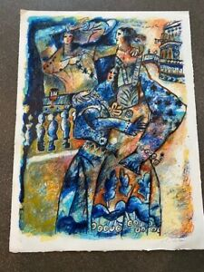 Original Signed Theo Tobiasse Lithograph Limited Edition 25 99 $325.00