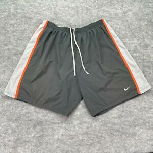Nike Running Shorts Men Extra Large Black Gray Red Colorblock 7quot; Polyester $17.99