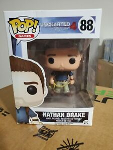 Funko Pop Uncharted 4 A Thief#x27;s End Nathan Drake NEW #88 Free Shipped.