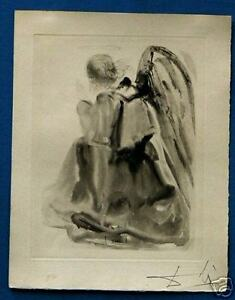 DALI SIGNED ETCHING DIVINE COMEDY HEAVEN CANTO 2 ANGEL $2700.00