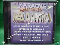 Neil Diamond ~ Karaoke Chart Toppers ~ 05 ~ Chart Toppers Karaoke ~ CD+G ~ NEW