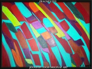 ORIGINAL ABSTRACT MODERN ART PAINTING by JENNIFER LEIGH $225.00