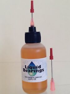Large 2 oz. Liquid Bearings 100%-synthetic oil for guns & reloading equip