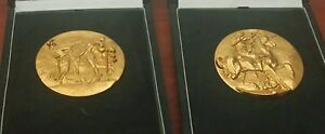 2 Very Rare Gold CoinsMedals Signed Salvador Dali As seen on Beverly Hills Pawn