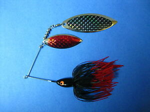 1 oz Spinner bait BLRed Tip bass lure Pike musky fish