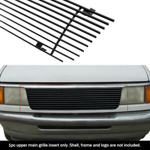 Fits 93-97 Ford Ranger Black Main Upper Billet Grille Insert